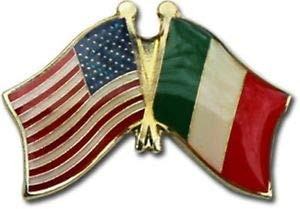 JumpingLight Wholesale Pack of 3 USA American Italy Friendship Flag Bike Hat Cap Lapel Pin for Home, Official Party, All Weather Indoors Outdoors