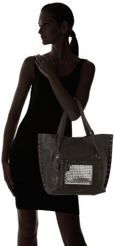 Le Temps des Cerises Swing 2 - Bolso de tela para mujer Noir (Noir 0110)