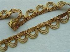 - 12 YARDS of Yellow Gold Rattail Loop Fringe Braid Gimp Trim Lampshades (Braid Lamp)