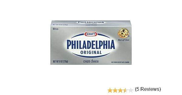 Kraft Philadelphia Cream Cheese Brick Original 8 Oz Pack Of 4 Amazon Com Grocery Gourmet Food