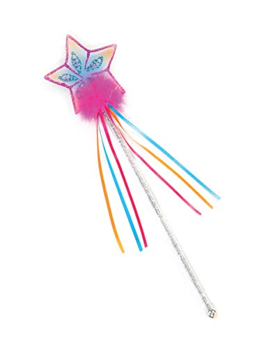 Creative Education Girls Glitter Rainbow Fairy Wand Magic Costume Prop, Pink]()