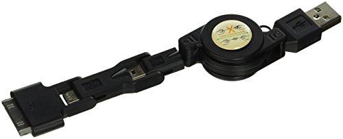 Executive High Speed Usb - Reiko Trio USB 2.0 Data Cable - Non-Retail Packaging - Black
