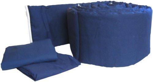 Baby Doll Bedding Solid Colors Grandmas Mini Crib/ Port-a-Crib Package Navy [並行輸入品]   B07586FQZL