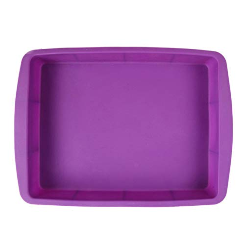 Silicone Baking Pans, Rectangular BPA Free Cake Molds Easy Demoulding Purple -