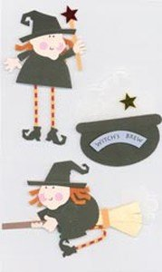 Paper Bliss Adhesive Embellishments - Halloween Witches