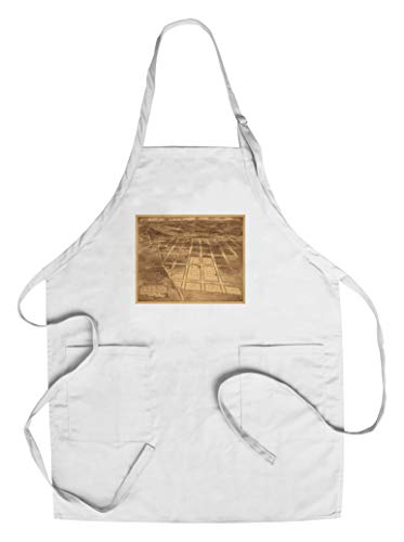 (Brookland, Washington DC - Panoramic Map (Cotton/Polyester Chef's Apron))