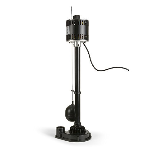 ECO-FLO Products EPP33 Pedestal Sump Pump with Vertical Float Switch, 1/3 HP, 3,000 (Dayton Pedestal Pump)