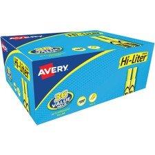 Avery Hi Liter Fluorescent (Avery HI-LITER Desk-Style Highlighters, Fluorescent Yellow, Value Pack of 36 (92808))