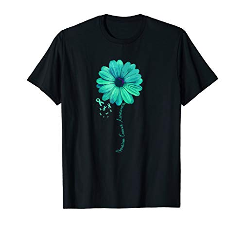 Ovarian Cancer Awareness Family T-shirt Survivor Pretty Gift