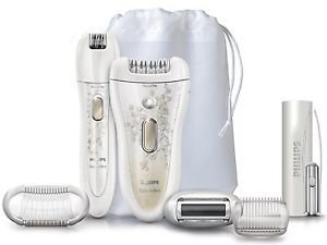 Philips New Satinperfect Deluxe Hp6581/00 Wet and Dry Epilator Set Bundle Kit Good Gift for Good Day Fast Shiping by Philips
