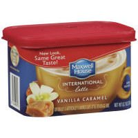 Maxwell House International Cafe Vanilla Caramel Latte Beverage Mix, 8.7 OZ (Pack of 8)