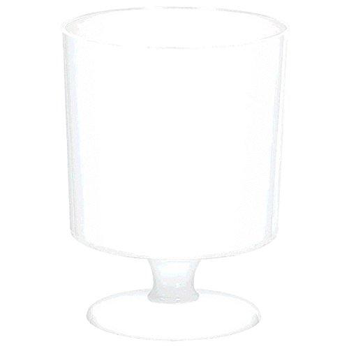 amscan White Mini Pedestal Cups   5 oz.   90 Ct.