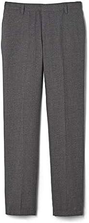 French Toast Boys Adjustable Waist Flannel Straight Leg Dress Pant School Uniform Pants