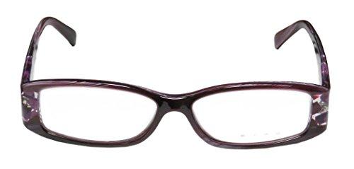 Etro Ve9895 Womens/Ladies Designer Full-rim Spring Hinges Eyeglasses/Eyewear (53-14-145, Purple Horn / Clear / - Etro Eyewear