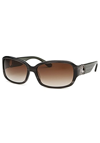 Salvatore Ferragamo SF608S-003-59 Women's Rectangle Striped Dark Grey - Salvatore Ferragamo Sunglasses