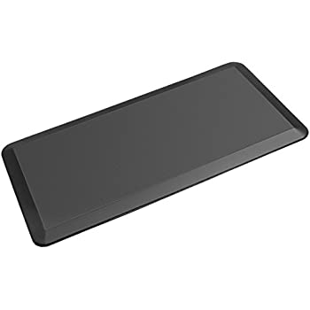 """HemingWeigh 3/4"""" Non-Slip Anti-Fatigue Comfort Mat, Ergonomically Engineered, Non-Toxic, Highest Quality Material, Waterproof, 20 x 39 inches (Black) - (1 Pack)"""