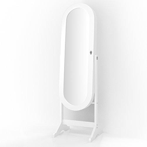 Schmuckschrank Spiegelschrank Standspiegel abschließbar Schmuckkasten Spiegel Louna -