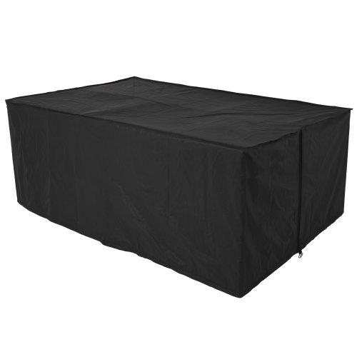 Schutzhülle für Tisch Stühle Sitzgruppen Sitzgarnituren, Wetterplane Abdeckhaube 193x136x88cm