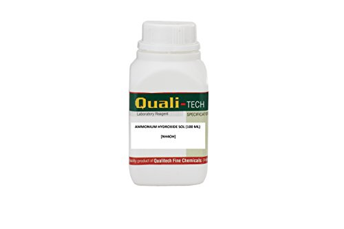 Microtroniks QUALI-TECH 99% Pure Ammonium Hydroxide Solution (NH4OH), 100ml (CAS: 1336-21-6) Price & Reviews