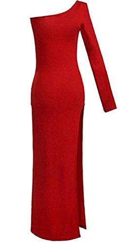 maniche Basic Abito Donna Red Senza fasciante SunIfSnow pv1w6qFq