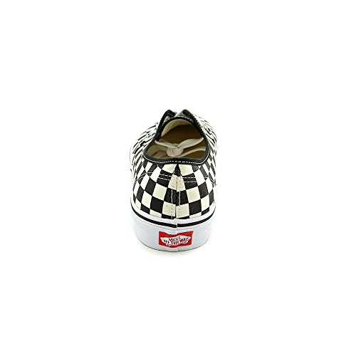white Unisex Checker on Slip Adults' Vans Classic Canvas Black Trainers Pq8O6xwOd
