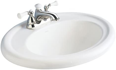 American Standard 0293.004.222 Standard Collection Countertop Sink with 4-Inch Faucet Spacing, Linen