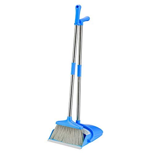 Echo Paths Broom Dustpan Cleaning Combo Rid Set with Long Handle Blue ()