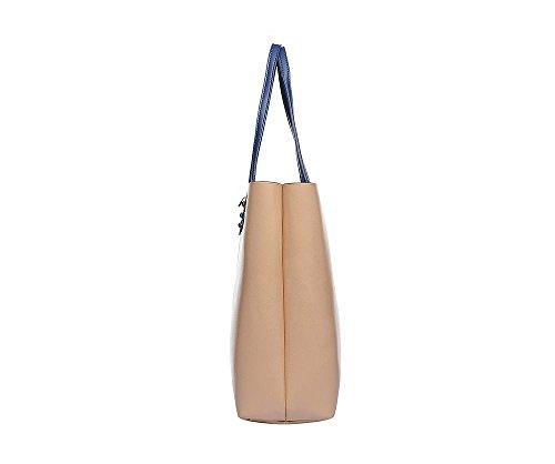 4706db948e Shopper Henkel Trage Einkaufs Tasche City Damenhandtasche absolut im Trend  als Geschenk Set mit kleinem Kosmetik Beutel aus Segeltuch gefertigt  ZlWwhE117E