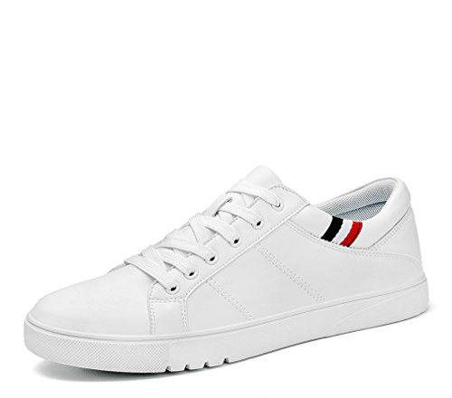 eleganti da White da bianco nere uomo Scarpe classiche in uomo Scarpe casual con Scarpe uomo piatto tacco color pelle da moda w4xYOR0q