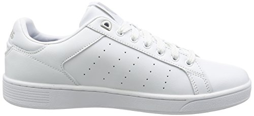 K-Swiss Clean Court CMF, Sneakers Basses Homme, Blanc (White/Gull Gray 131), 44.5 EU