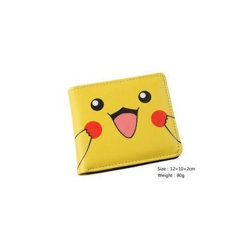 Portefeuille Homme Femme Maroquinerie Cuir Porte Monnaie Sac Sacoche Manga  Cosplay Pokemon Go Bag Pikachu Jaune a1e230686b3