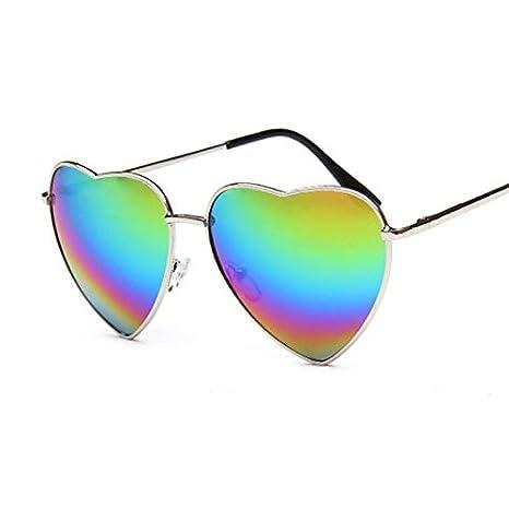 DaoRier Serie Arcoiris Forma de Corazón Gafas de Sol Mujer ...