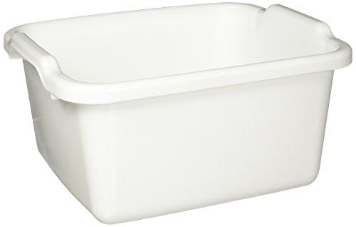 Rubbermaid Antimicrobial Dish Bucket, 15.6-Quart, Clear (FG2970ARWHT)
