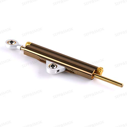 Axle Dampers Motorcycle Universal Adjustable Reinforced Double Pipe Modified Titanium Ruler Directional Damper Steering Buffer Anti-Smashing Head ()