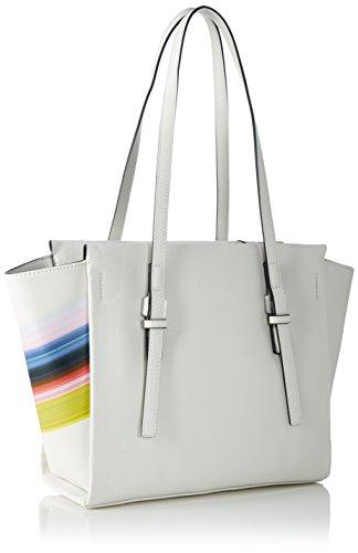 Calvin Klein Damen M4RISSA PRINT MEDIUM TOTE Tote Weiß (POWDER WHITE )