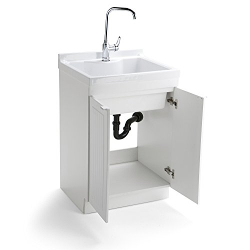 Simpli Home Murphy Laundry Cabinet with Faucet and ABS Sink, 24'', Pure White by Simpli Home (Image #2)
