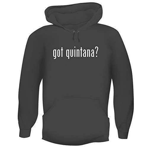One Legging it Around got Quintana? - Men's Funny Soft Adult Hoodie Pullover, Grey, Medium