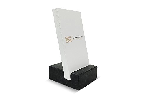 Absolute Black Marble - Vertical Business Card Holder made from Black Absolute Granite