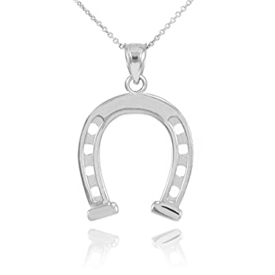 925 Sterling Silver Good Luck Charm Pendant Horseshoe Necklace