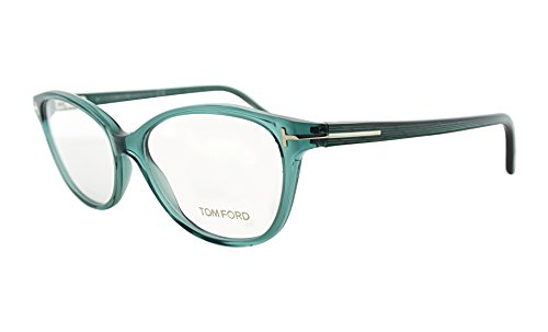 Tom Ford FT 5299 087 Transparent Blue Cat-Eye - Eye Ford Glasses Cat Prescription Tom