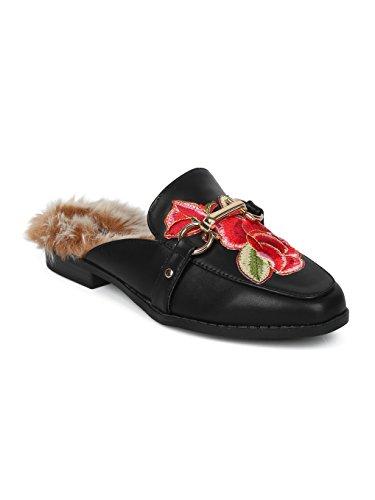 fd81b716e2819 Women Satin Brocade Phoenix Horsebit Loafer Slide HF84 | Weshop Vietnam