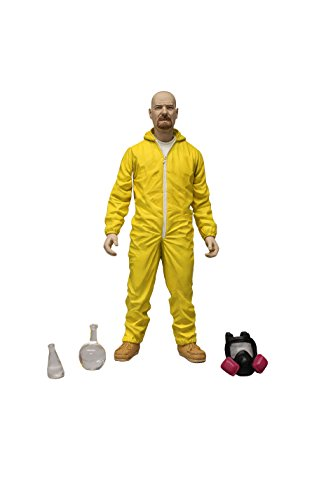 "Mezco Toyz Breaking Bad 6"" Walter White Hazmat Figure (Yellow Suit)"