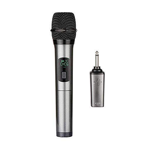 ARCHEER Bluetooth Wireless Microphone, UHF Handheld Dynamic Microphone and Bluetooth Receiver with 1/4