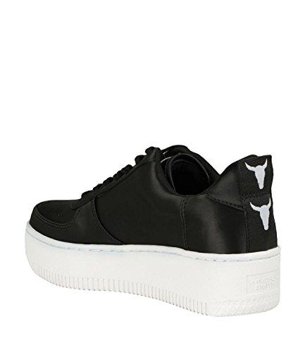 Windsorsmith Sneaker Windsor Smith Racerr Satijn Zwart Wit Nero
