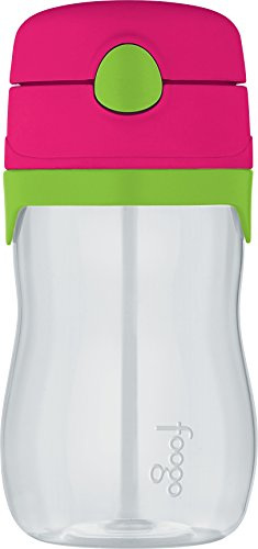 THERMOS FOOGO 11-Ounce Straw Bottle, Watermelon/Green