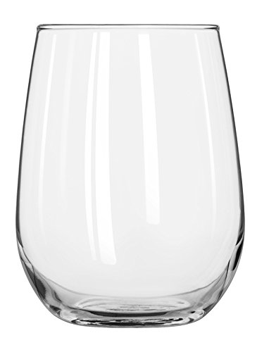 (Libbey Glassware 221 Stemless White Wine Glass, 17 oz. (Pack of 12))