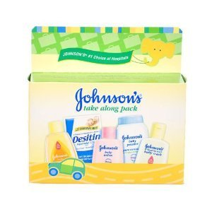 Baby / Child Johnson & Johnson Take Along Pack With Head-To-Toe Baby Wash , Lotion & Powder With Aloe & Vitamin E Infant