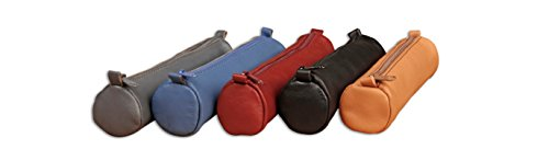 Clairefontaine 18.5 x 4 cm Small Age Bag Leather Round Pencil Case - Assorted Colours