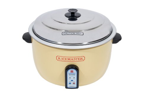 RiceMaster 55 Cup Rice Cooker With Stainless Exterior - 230V