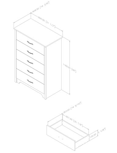 South 5-Drawer Chest,